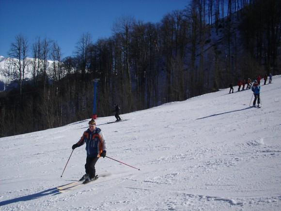 12.02.2009 12:29 Учебный склон на Альпике