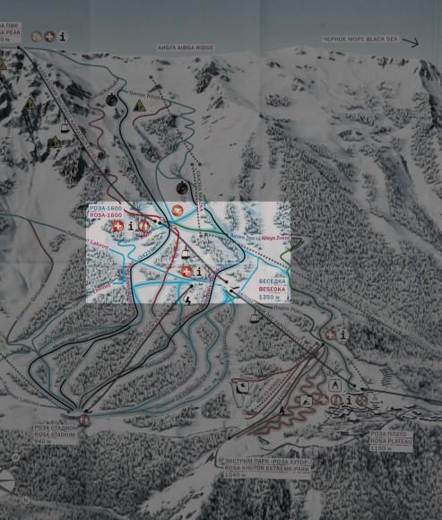Роза Хутор — схема трасс