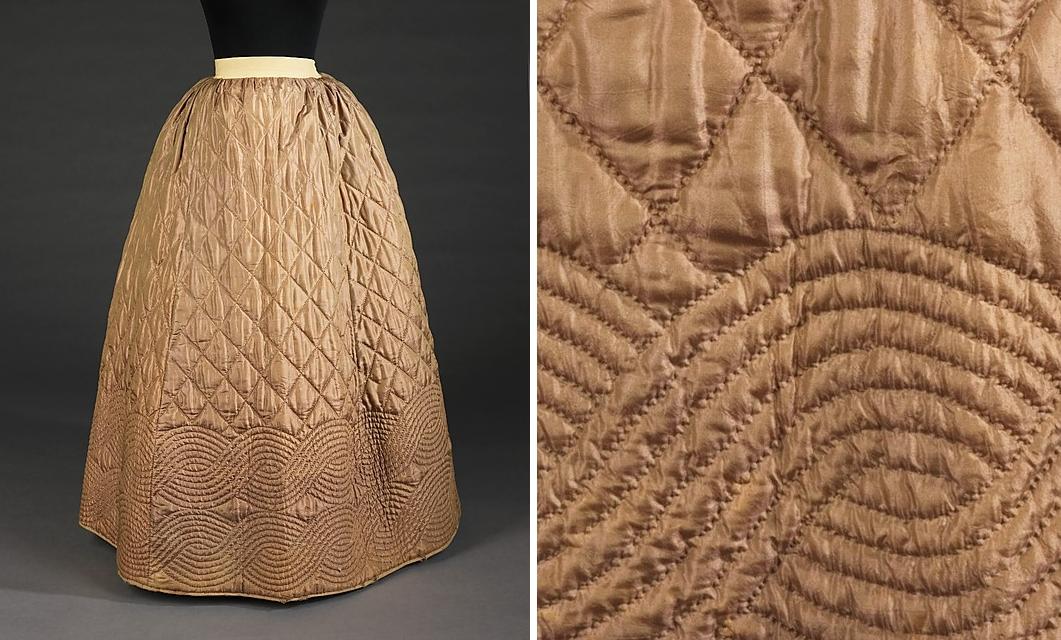 Длинная юбка из стеганой ткани своими руками